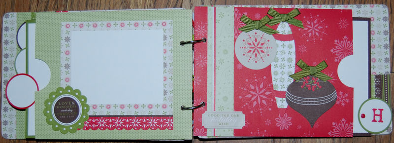 Inside pages Christmas Chipboard Album