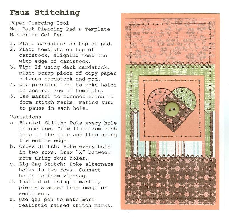 Faux Stitching