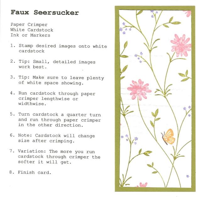 Faux Seersucker