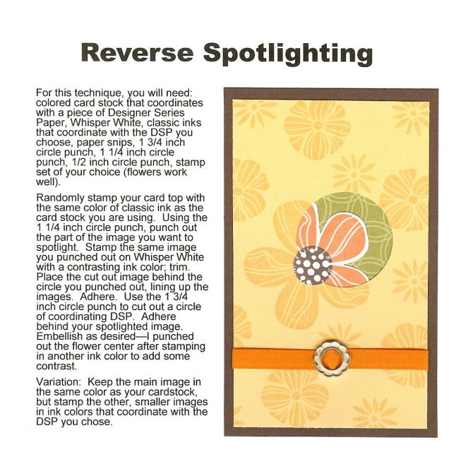 Reverse Spot Lighting