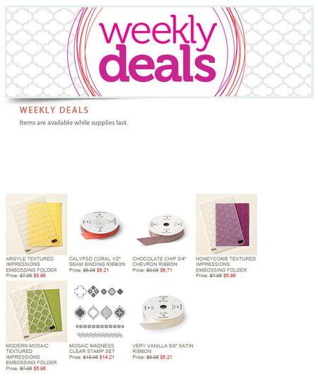 Weekly Deals 3.17.15
